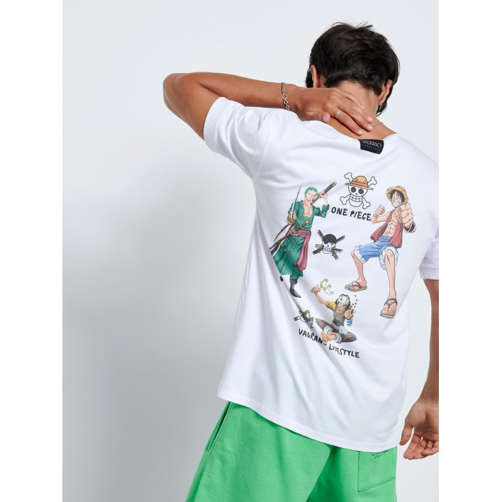 BACK ONE PIECE HEROS T-shirt - Vagrancy lifestyle eshop for Casual men and women clothes