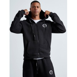 BLACK HOODED JACKET - Vagrancy lifestyle eshop for Casual men and women clothes