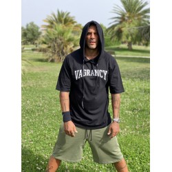BLACK VAGRANCY HOODIE 3/4 SLEEVE - Vagrancy lifestyle eshop for Casual men and women clothes