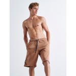Brown Shorts 3D Guns - Vagrancy lifestyle eshop for Casual men and women clothes