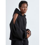 CUT SHOULDERS BLACK HOODIE - Vagrancy lifestyle eshop for Casual men and women clothes