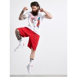 FIGHT SPLASHED RED T-SHIRT