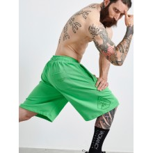 FLUO GREEN COTTON SHORTS