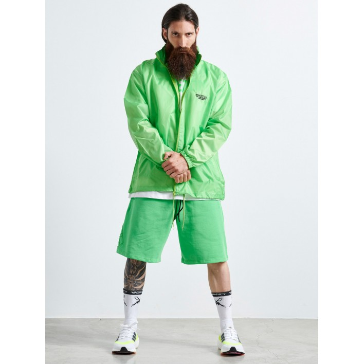 FLUO GREEN WINDBREAKER JACKET - Vagrancy lifestyle eshop for Casual men and women clothes