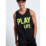 FLUO PLAY LIFE SLEEVELESS TOP - Vagrancy lifestyle eshop for Casual men and women clothes