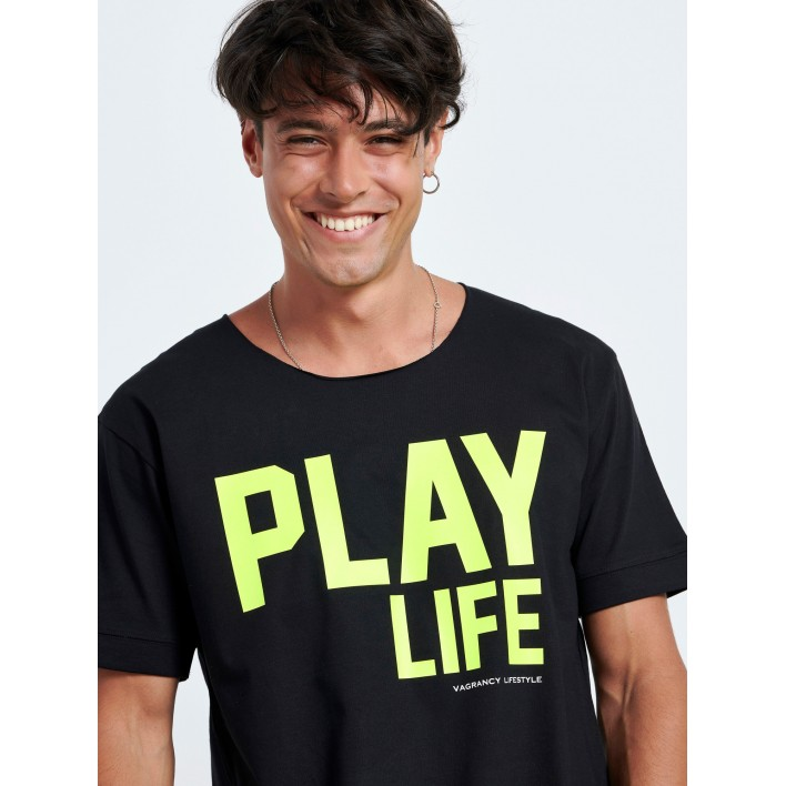 FLUO PLAY LIFE T-SHIRT - Vagrancy lifestyle eshop for Casual men and women clothes