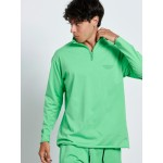 GREEN ZIP TOP - Vagrancy lifestyle eshop for Casual men and women clothes