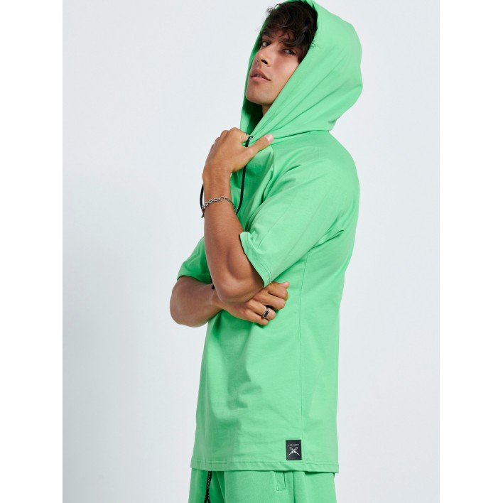 GREEN HOODIE 3/4 SLEEVE - Vagrancy lifestyle eshop for Casual men and women clothes
