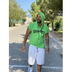 GREEN VAGRANCY HOODIE  - Vagrancy lifestyle eshop for Casual men and women clothes