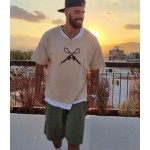 GUNS SHORT SLEEVE SWEATER - Vagrancy lifestyle eshop for Casual men and women clothes