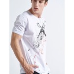 Handmade GUNS White T-SHIRT - Vagrancy lifestyle eshop for Casual men and women clothes