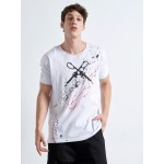Handmade CROSS SCISSORS White T-SHIRT - Vagrancy lifestyle eshop for Casual men and women clothes