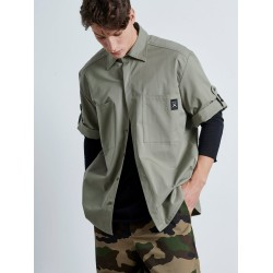 Khaki Mexican Shirt - Vagrancy lifestyle eshop for Casual men and women clothes