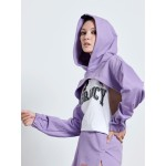 LILAC CROP HOODIE - Vagrancy lifestyle eshop for Casual men and women clothes