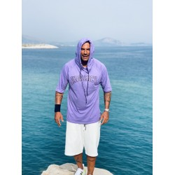 LILAC VAGRANCY HOODIE 3/4 SLEEVE - Vagrancy lifestyle eshop for Casual men and women clothes