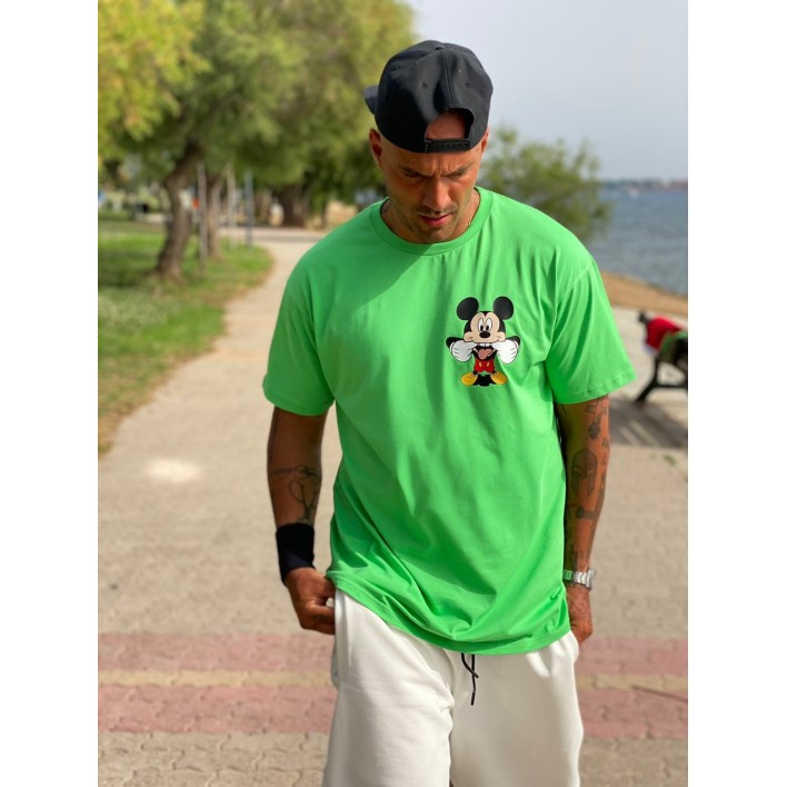 MICKEY GREEN BOX T-SHIRT - Vagrancy lifestyle eshop for Casual men and women clothes