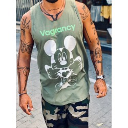 MICKEY KHAKI Αμάνικο - Vagrancy lifestyle eshop for Casual men and women clothes