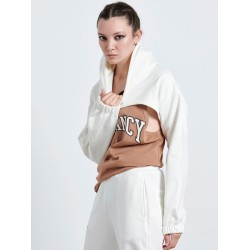 OFF WHITE CROP HOODIE - Vagrancy lifestyle eshop for Casual men and women clothes