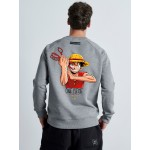 ONE PIECE Grey Sweater - Vagrancy lifestyle eshop for Casual men and women clothes