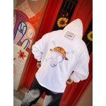 ONE PIECE WHITE POCKET HOODIE - Vagrancy lifestyle eshop for Casual men and women clothes