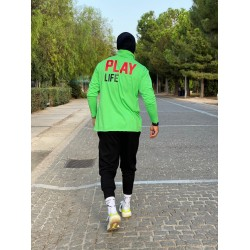 PLAY LIFE GREEN ZIP TOP - Vagrancy lifestyle eshop for Casual men and women clothes
