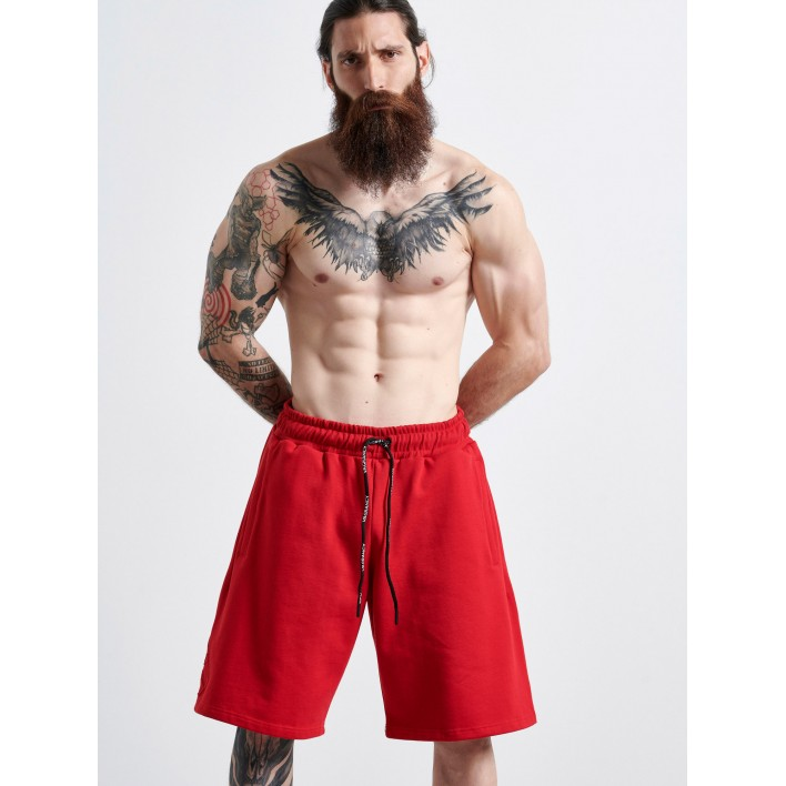 RED COTTON SHORTS - Vagrancy lifestyle eshop for Casual men and women clothes
