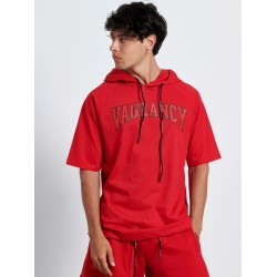 RED VAGRANCY HOODIE 3/4 SLEEVE - Vagrancy lifestyle eshop for Casual men and women clothes