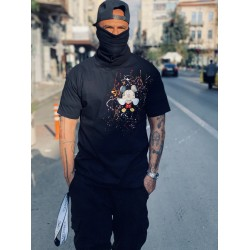 SIDE MICKEY BLACK T-shirt - Vagrancy lifestyle eshop for Casual men and women clothes
