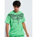 SKULL BUTTERFLY GREEN T-shirt - Vagrancy lifestyle eshop for Casual men and women clothes