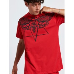 SKULL BUTTERFLY RED T-shirt - Vagrancy lifestyle eshop for Casual men and women clothes