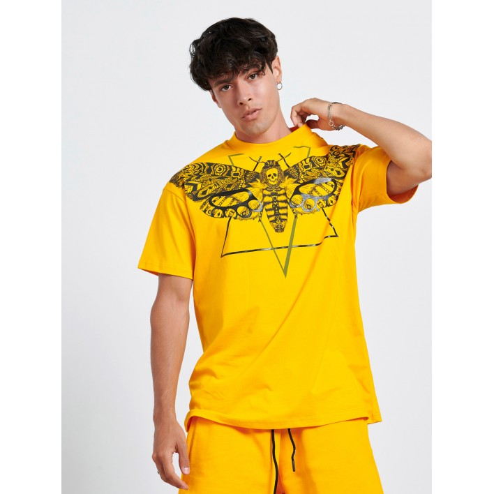 SKULL BUTTERFLY YELLOW T-shirt - Vagrancy lifestyle eshop for Casual men and women clothes