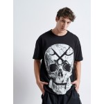 SKULL GUNS Loose T-shirt - Vagrancy lifestyle eshop for Casual men and women clothes
