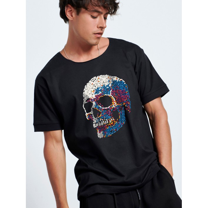 SKULL PILLS T-SHIRT - Vagrancy lifestyle eshop for Casual men and women clothes