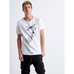 Splashed Scissors T-shirt - Vagrancy lifestyle eshop for Casual men and women clothes