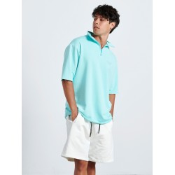 baby fouter TURQUOISE HALF ZIP TOP 3/4 - Vagrancy lifestyle eshop for Casual men and women clothes