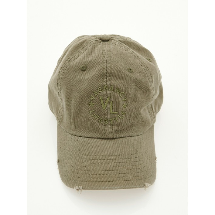 VL DESTROYED OLIVE JOCKEY - Vagrancy lifestyle eshop for Casual men and women clothes