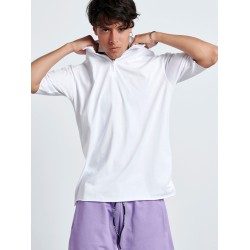 WHITE HALF ZIP TOP - Vagrancy lifestyle eshop for Casual men and women clothes