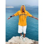 YELLOW VAGRANCY HOODIE 3/4 SLEEVE - Vagrancy lifestyle eshop for Casual men and women clothes