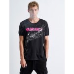 Splashed Fuchsia Vagrancy T-shirt | Vagrancy lifestyle eshop for Casual Clothes