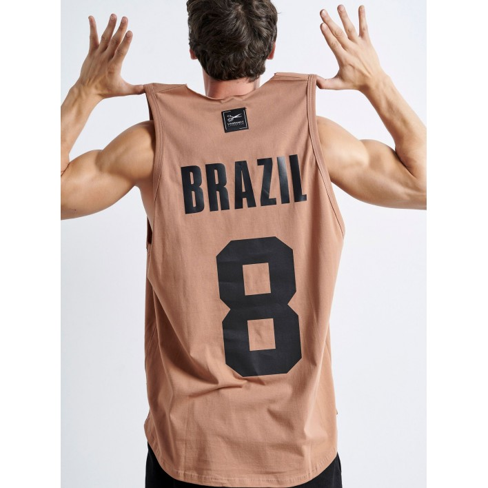 BRAZIL 8 BROWN sleeveless | Vagrancy lifestyle eshop for Casual Clothes