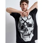 SKULL GUNS Loose T-shirt | Vagrancy lifestyle eshop for Casual Clothes