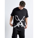SCISSORS GUNS Loose T-shirt | Vagrancy lifestyle eshop για Casual Ρούχα