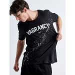 Splashed White Vagrancy T-shirt | Vagrancy lifestyle eshop for Casual Clothes