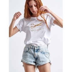 Gold Scissors Woman T-shirt - Vagrancy lifestyle eshop for Casual men and women clothes