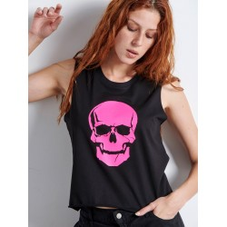 FUCHSIA SKULL Sleeveless Top - Vagrancy lifestyle eshop for Casual men and women clothes