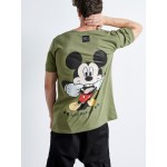MICKEY SMILE KHAKI T-shirt | Vagrancy lifestyle eshop for Casual Clothes