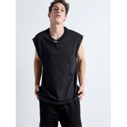 Metal Sleeveless BLACK - Vagrancy lifestyle eshop for Casual men and women clothes