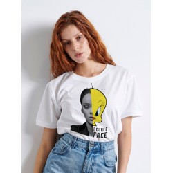 DOUBLE FACE  WOMAN T-shirt - Vagrancy lifestyle eshop for Casual men and women clothes