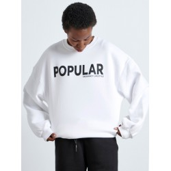 POPULAR WHITE SWEATER - Vagrancy lifestyle eshop for Casual men and women clothes