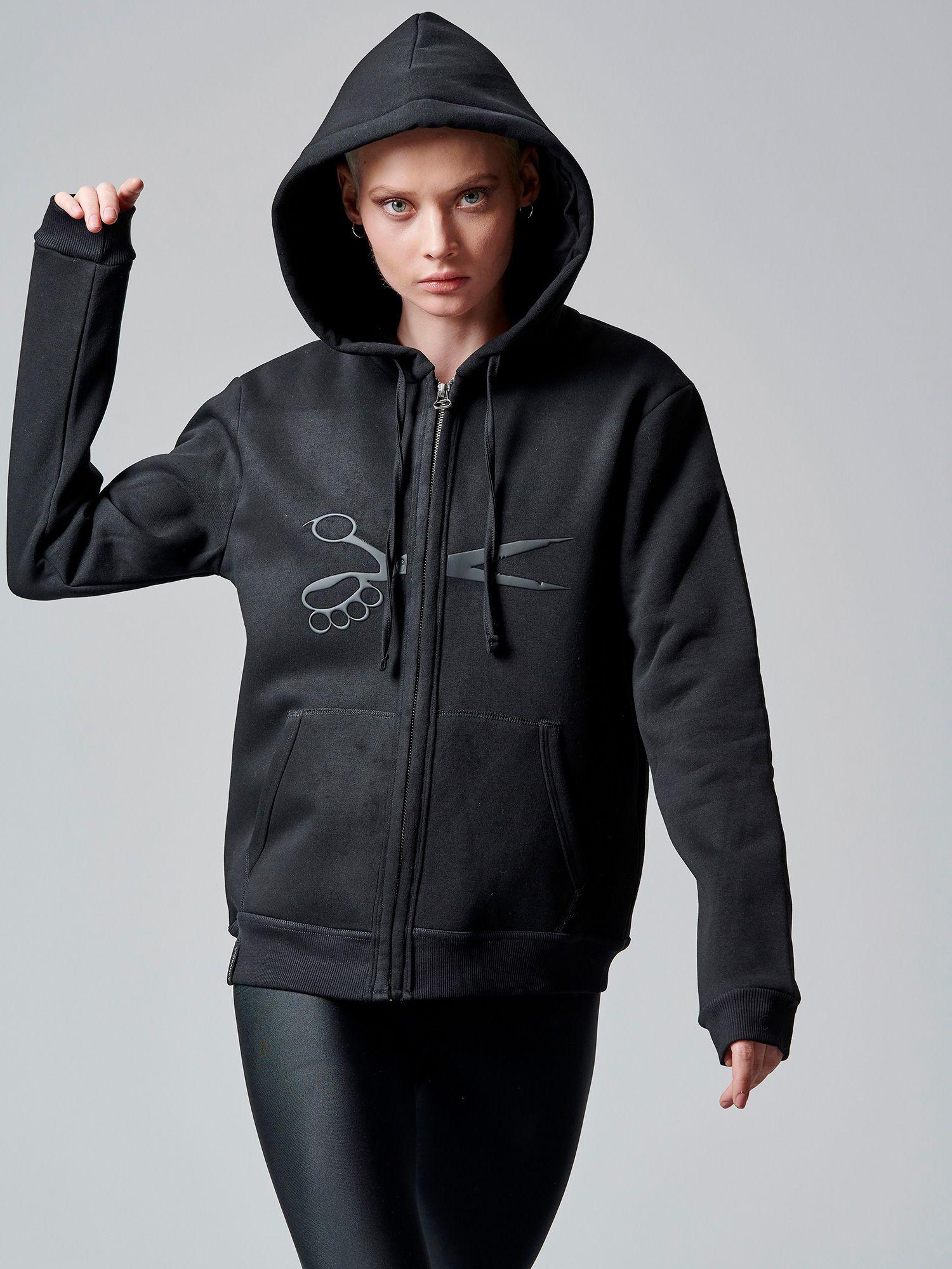 scissors hoodie jacket